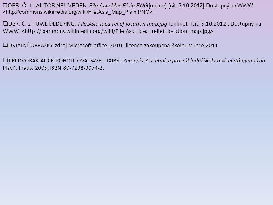 OBR. Č. 1 - AUTOR NEUVEDEN. File:Asia Map Plain. PNG [online]. [cit. 5